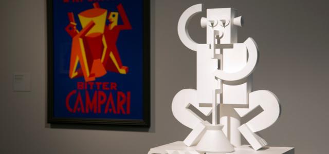 Detall de l'exposició sobre Depero a La Pedrera