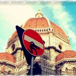 Intervención delante del Duomo de Florencia
