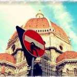 Intervenció davant el duomo de Florència