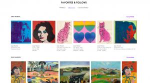 La interfície d'ArtStack, molt semblant a la de Pinterest.