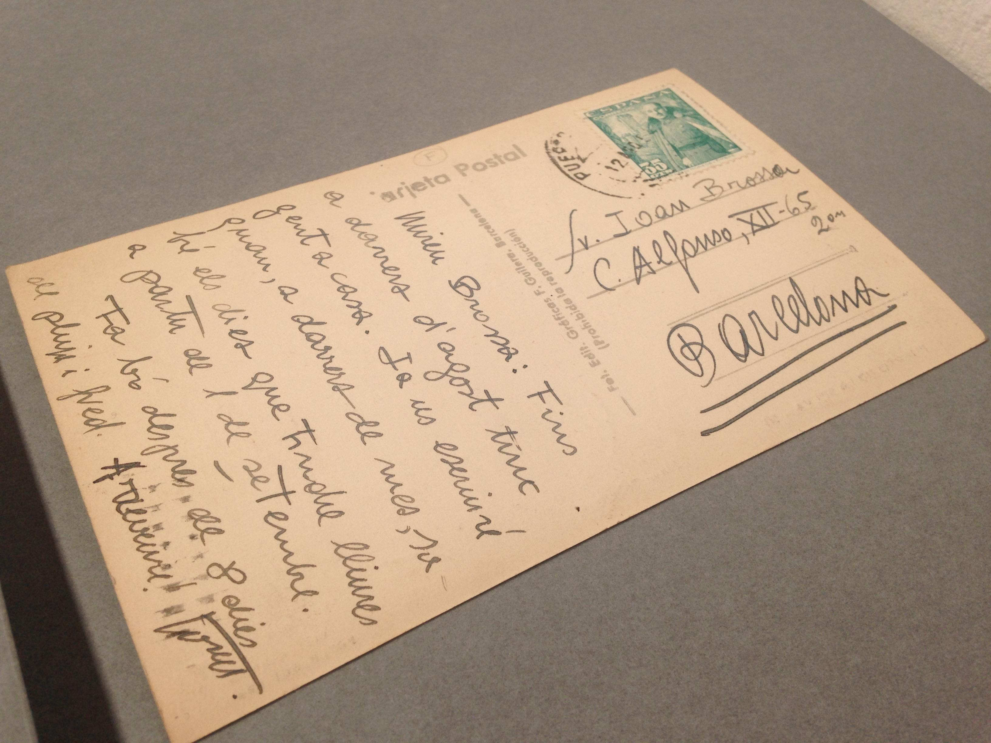 Detall del fons documenta de Joan Brossa.